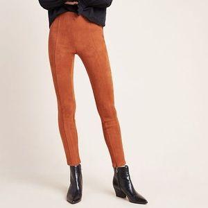 Anthropologie Camel Front Seem Ankle Zipper Pants